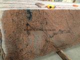 花こう岩の建築材料のタイル(多色刷りの赤)