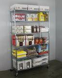 Cremalheira ajustável do armazenamento do alimento do equipamento do restaurante do trole da prateleira do Shelving do fio do cromo de 4 séries