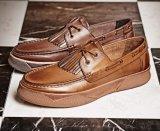 Chaussures en cuir nubuck occasionnel sans lacets de chaussures confortables de style Mens robe