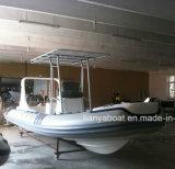 Venda inflável do barco do reforço de Hypalon do barco da casca rígida de Liya 6.2m