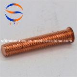 Parafuso rosqueado do chapeamento de cobre de aço de carbono M3*18 (pinta) ISO13918