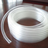 Tubulação de mangueira flexível do PVC Tranparent do espaço livre do produto comestível