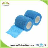 Imperméable de couleur Bandage élastique Non-Woven médical cohésive