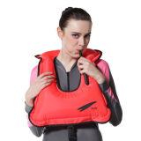210 Denier Revestimiento de TPU de nylon inflable Snorkel nadar Seguridad chaleco salvavidas para adultos