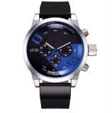 Los hombres reloj de cuarzo Watchband de silicona de gran lujo de marcar el temporizador reloj de pulsera