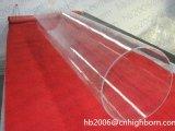 Cilindro de vidro de quartzo transparente grande tubo da fornalha