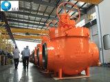 API 6D schmiedete Stahlhochdruckspitzeneintrag-Drehzapfen eingehangenes Kugelventil für Öl-und Gas-Rohr-Zeile