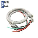 """3/4の"""" X4', 8AWG AC電気鞭のLiquid-Tightエアコンのコンジットの鞭--金属"""