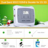 2018 900/2100MHz double bande amplificateur de signal mobile 2G 3G répétiteur de signal avec antenne pénal