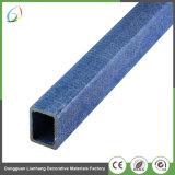 Square 12mm tuyau renforcé de fibre de verre