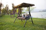 現代カップルの屋外の庭の中庭の余暇の贅沢な振動椅子