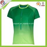 Дышащий полиэстер Sublimated Custom работает футболки для мужчин