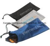 Sacchetto molle nero del sacchetto del Drawstring del panno di Microfiber stampato abitudine promozionale