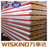 China Certificada ISO de paneles sándwich de lana de roca