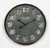 Reloj casero del metal de la antigüedad de la decoración de la manera