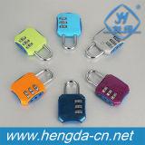 Combinação de bloqueio de segurança de liga de zinco Padlcok policromático de cadeado