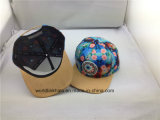 La sublimación de Dos Tonos personalizados pico plano Hip Hop la tapa con 6 Panel parches de tejido Snapback Caps