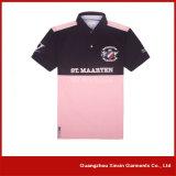 Camisas de polo feito-à-medida do algodão da boa qualidade para os homens (P34)