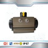 Kogelklep de van uitstekende kwaliteit van de Draad van het Roestvrij staal Met Pneumatische Actuator