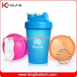 botella plástica de la coctelera de la mezcla 400ml con el interior de la bola del mezclador del mezclador (KL-7011)