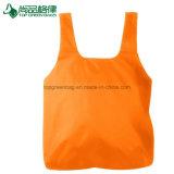 Aufbereiteter Shirt-Form-Nylon-Polyester-faltbarer Beutel-EinkaufenTote