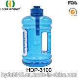 Garrafa de água plástica da alta qualidade FDA PETG 2.2L com recipiente do cartão