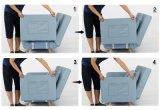 Canapé-lit convertible Table de salle de séjour Meubles en microfibre de dortoir Sleeper