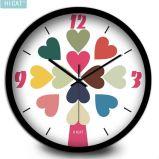 창조적인 현대 장식적인 벽시계 침묵하고는 & 비 똑딱거리는 석영 시계 10는 12 인치를 조금씩 움직인다