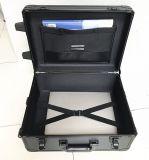 Черный алюминиевый портфель вагонетки с закодированным замком (KeLi-1107)