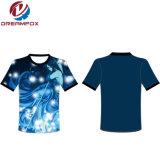 製造業者の高品質の女性のためのヨーロッパのサイズのラベルデザイン海軍ブランクの人のTシャツ