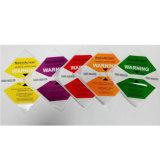 escritura de la etiqueta del impacto 25g/37g/50g/75g/100g para los productos frágiles