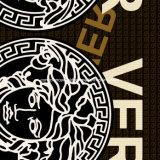 100%Polyester Versace 3D Zerstreung druckte Gewebe für Bettwäsche-Set