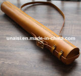 OEM Genuine Leather Drawings Paper Storage Cylinder Pencil PEN Box