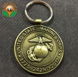 O OEM EUA Marine Corp Chaveiro emblema para a Loja (HST-KRS-108)