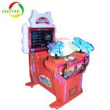 子供のためのアーケード・ゲーム機械を撃っている凍結する英雄