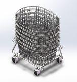 Cesta de compras oval del acoplamiento de alambre (HBE-B-31)