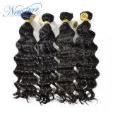 Образец Китайской Virgin человеческого волоса ослабление комплект Weft кривой