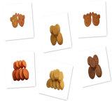 Los chips de arroz de pato de forma redonda formación pet food