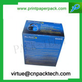 Coutom blauer Kopfhörer-verpackenpapppapiergeschenk-Kasten