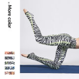 Сексуальные напечатанные кальсоны йоги женщин гетры гимнастики пригодности