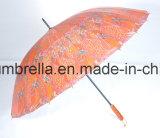 24 nervature, ombrello diritto con la maniglia di legno