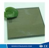 Desobstruído/verde/vidro laminado cinzento para o vidro do edifício (L-M)