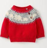 幼児の男の子の女の子のニットのセーターのかわいい男女兼用の子供のプルオーバーのスエットシャツ