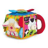 Tejido de felpa Granja educativa de cubo de juguetes para bebés