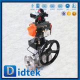 Valvola a sfera pneumatica dell'acciaio inossidabile CF8 dell'attrezzo di vite senza fine di Didtek