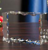 Del lado de onda con el bloque de cristal grabado 3D