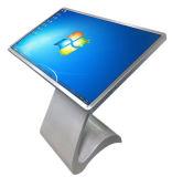 Самообслуживание LCD сенсорного экрана 55 дюймов, крытая рекламируя индикация, взаимодействующий киоск