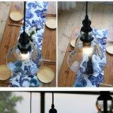 Lâmpada de vidro preta pequena do pendente do restaurante nórdico da forma