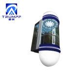 홈을%s 박판으로 만들어진 안전 유리 홈 파노라마 전송자 엘리베이터