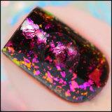 Galaxie-Brokat-Wolken-Nagel-Fleck-unregelmäßiges Chamäleon blättert Dekoration ab
